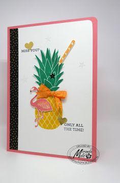 Stampin Utopia Bestel Stampin' Up! Hier: Stampin' Up! Exotic Drink; flamingo,pop of paradise, pineapple