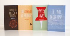 John Green books: Looking for Alaska, An Abundance of Katherines, Paper Towns, The Fault in Our Stars