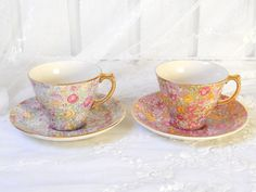 vintage french tea cups teacups  tea cups and by minoucbrocante, €21.50