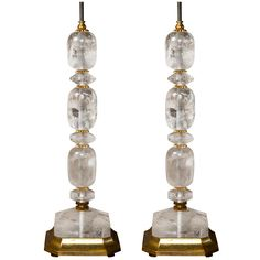 Pair Rock Crystal Table Lamps