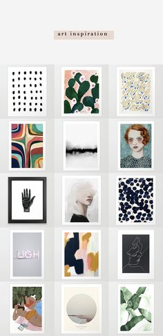 The perfect mix of prints for your wall art inspiration!