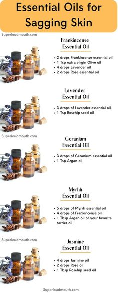 """Essential Oils for Sagging skin Essential Oils for Skin Tightening - Get rid of Saggy skin<br> There are natural solutions such as """"Therapeutic Essential oils"""" which tightens skin and reduce other aging skin problems such as wrinkles and scars. Essential Oils For Skin, Geranium Essential Oil, Frankincense Essential Oil, Essential Oil Blends, Limpieza Natural, Skin Bumps, Borage Oil, Perfume, Sagging Skin"""