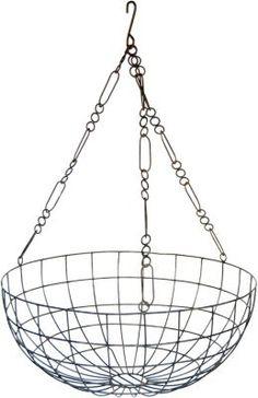 very cool vintage hanging metal basket