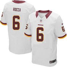 Men Nike Washington Redskins #6 Sav Rocca Elite White NFL Jersey Sale