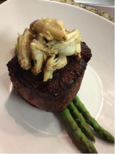The Filet Perry, topped with Jumbo Lump Crab. #PerrysDining