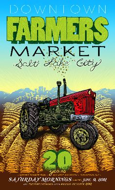 Downtown farmers market in Salt Lake City. There is also a farmer's market on the University of Utah's campus!