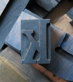 Antique Letterpress Wood Type Printers Block by PreserveCottage, $6.00