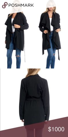 💣🙌🏼 COMING SOON! Black Trench Coat w/ Waist Tie + I am so excited to have my 1st shipment of boutique items coming in! I will be doing some giveaways to celebrate but... in the meantime - please like this listing in order to get a price drop notification when these come in! + These will be $65 each  + Black Trench Coat | Waist Tie Jacket + Polyester/Spandex blend  + Will be getting this in 1S, 1M and 1L Tops