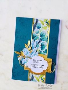 Card Making Inspiration, Making Ideas, Leaf Cards, Stamping Up Cards, Rubber Stamping, Happy Birthday Cards, Happy Birthdays, Birthday Greetings, Birthday Wishes