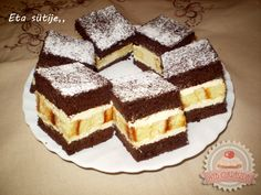 Hungarian Desserts, Hungarian Recipes, Hungarian Food, Delicious Desserts, Dessert Recipes, Cake Bars, Tiramisu, Waffles, Bakery