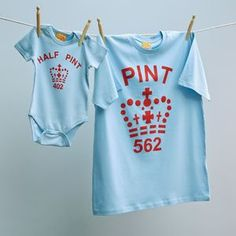 New Father Twinning Pale Blue and Red Pint Tshirt and Half Pint Baby Grow Tops for New Son or Daught New Fathers, New Dads, Half Pint, Dad Baby, Organic Cotton T Shirts, Baby Grows, Green And Brown, New Baby Products, Sons