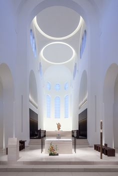 St Moritz Church by John Pawson Architects Sacred Architecture, Church Architecture, Religious Architecture, Light Architecture, Futuristic Architecture, Architecture Details, Interior Architecture, Sustainable Architecture, Landscape Architecture