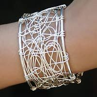 Sterling silver cuff bracelet, 'Electrifying'http://www.novica.com/itemdetail/index.cfm?pid=156592