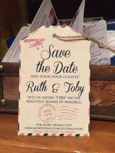 Destination Wedding Invitation. Save the Date by TheStylishScribe