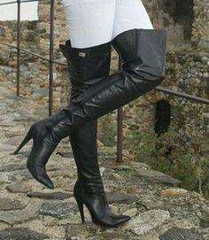 Overknee Stiefel Leatherboots Otkboots Overthekneeboots Fashion Outfit
