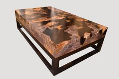 Epoxy Flooring Good Cracked Resin Coffee Table With Base HOS - Andrianna Shamaris - Epoxy table - Trunk Furniture, Resin Furniture, Coffee Table Base, Modern Coffee Tables, Epoxy Floor, Clear Resin, Paint Shop, Diy Garden Decor, How To Make Bed