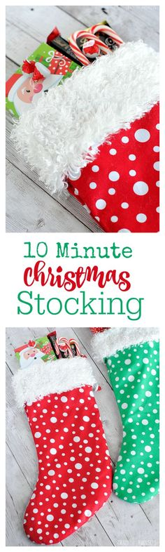 Make a Christmas Stocking in 10 Minutes with this free Pattern and Tutorial