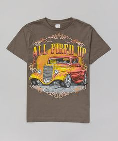 Loving this Charcoal 'All Fired Up' Tee - Toddler & Boys on #zulily! #zulilyfinds