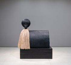 "A sculpture by Simone Leigh as a part of her exhibition ""Loophole of Retreat"" this is on display at the Solomon R. Guggenheim Museum in New York City...."