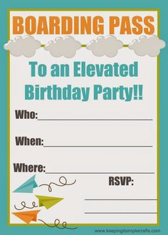 Keeping It Simple Boy Birthday Party Ideas Paper Airplane With Food Games And Printables