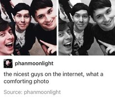 Aw. Thomas, Phil and Dan. This is a photo of the nicest guys on the Internet. <3