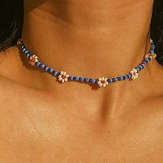 Diy Jewelry Necklace, Beaded Choker Necklace, Bead Jewellery, Diy Choker, Chain Jewelry, Beaded Jewelry Designs, Necklace Designs, Trendy Jewelry, Cute Jewelry