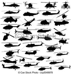 Vector - helicopter all vector silhouettes - stock illustration, royalty free illustrations, stock clip art icon, stock clipart icons, logo, line art, EPS picture, pictures, graphic,…