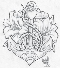 Tattoo old school anchor tatoo 64 Ideas Rose Tattoos, Body Art Tattoos, New Tattoos, Tatoos, Traditional Roses, Traditional Tattoo, Kunst Tattoos, Tattoo Drawings, Anchor Sketch