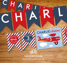 Airline Plane Bunting Flags  (Personalised Printables)