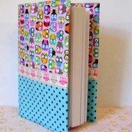 Diary 2014 fabric covered Owls - £7.50