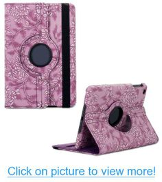 Change 360 Degrees Rotating Stand Stylish Embossed Flowers Case for Ipad Air 5, Supports Smart Cover Wake/sleep Function (Purple) #Change #Degrees #Rotating #Stand #Stylish #Embossed #Flowers #Case #Ipad #Air #Supports #Smart #Cover #Wake_sleep #Function #Purple