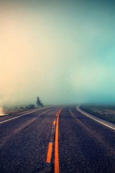#Phone Fog Roads Mobile Wallpaper #Wallpapers