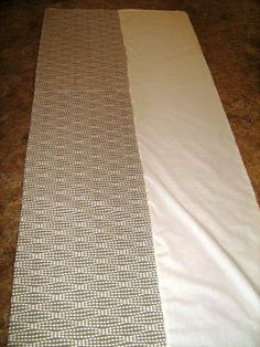 DIY bedskirt, easy way to make your own bedskirt