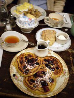 Blueberry Cornmeal Pancakes, Alice's Teacup, NYC, photo via Becky Quan, via Flickr