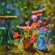 """""""You Must Come to My Garden""""  Colorful and Original Oils of All Things French by Artist Dreama Tolle Perry"""