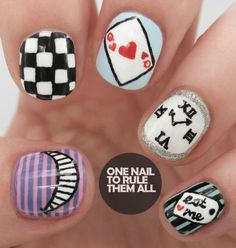 Few things spur the imagination more than a good book, so if your nail art designs have been feeling a little dull lately, what better way to breathe new life into them than by channeling your favorite fictional characters? Transform your favorite page-turners into head-turners with these 16 literature-inspired nail art designs from around the Web.