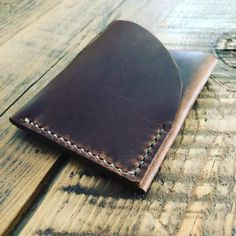 Handmade two-slot minimal wallet, made from oil-stuffed or veg tan leather, holds your every day carry items in a slim, easy to carry package. Available in both natural (veg tan) or brown. Minimal Wallet, Slot, Leather Wallet, Minimalism, Handmade, Minimalist Wallet, Hand Made, Craft