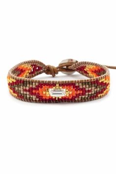 Turquoise Bead Mix Single Wrap Bracelet on Natural Brown Leather - Chan Luu Bead Loom Bracelets, Beaded Wrap Bracelets, Handmade Bracelets, Beaded Jewelry, Chan Luu, Leather Chain, Brown Leather, Leather Jewelry, Natural Brown