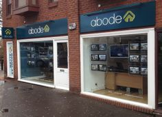 Abode (Essex) Great looking fascia supplied as fret cut push through letters illuminated by back LEDs and parabeam. Projector also supplied with the same spec #EstateAgents #Signage #Fascia