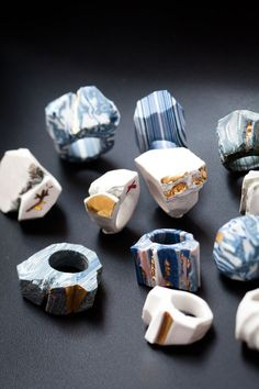 Porcelain Rings by Elizabeth van der Merwe