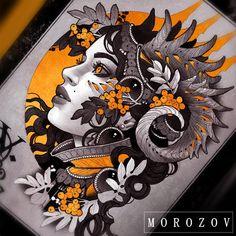 "13k Likes, 53 Comments - Vitaly Morozov (@mvtattoo) on Instagram: ""Design available tattoomv@gmail.com/эскиз свободен…"""