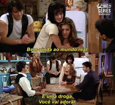 Quote from Friends │ Monica Geller (to Rachel): Welcome to the real world! It sucks. You're gonna love it! Friends Tv Show, Friends 1994, Tv: Friends, Serie Friends, Friends Scenes, Friends Moments, Friends Episodes, Aviation Quotes, Senior Quotes