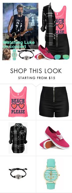 """Watching Luke on Concert"" by demi-demetria-lovato ❤ liked on Polyvore featuring Love Moschino, Rails, Vans, Aéropostale, Ray-Ban, concert and lukehemmings"