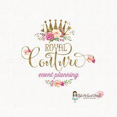 crown logo design princess logo design queen by stylemesweetdesign