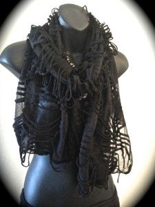 Post apocalyptic accesories | Shredded Scarf Post Apocalyptic Steampunk Goth Boho Gypsy Pretty Angel ...