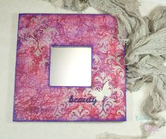 Small Hanging Romantic Mirror that builds self-esteem in Pink