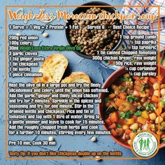 Healthy Eating Recipes, Diet Recipes, Healthy Meals, Healthy Food, Recipies, Moroccan Chickpea Soup, Food Pictures, Food Photography, Food Porn