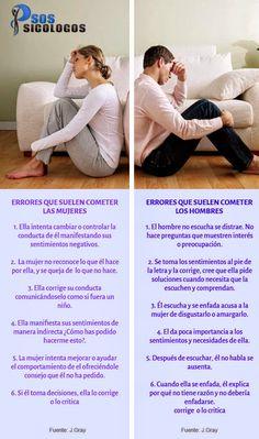 M SOSPsicólogos: ¿Problemas de pareja? Aprende a interpretar a él y a ella