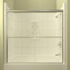 Arizona Shower Door Euro 56-In To 60-In W X 57.5-In H Chrome Sliding S