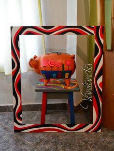 Marco de madera para espejo Paper Mache, African Art, Mirrors, Decoupage, Frame, Furniture, Home Decor, Gifs, Chair